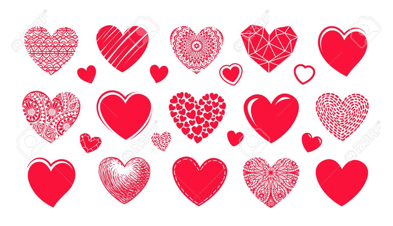 Logotipo Rojo Del Corazón, Etiqueta. Fije Los Iconos O Los ...