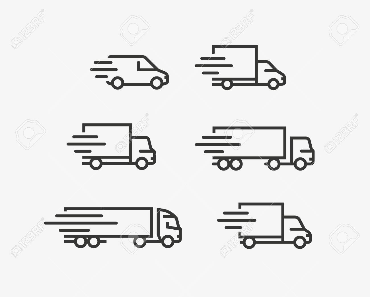 Truck icon set. Freight, delivery symbol. - 130492396