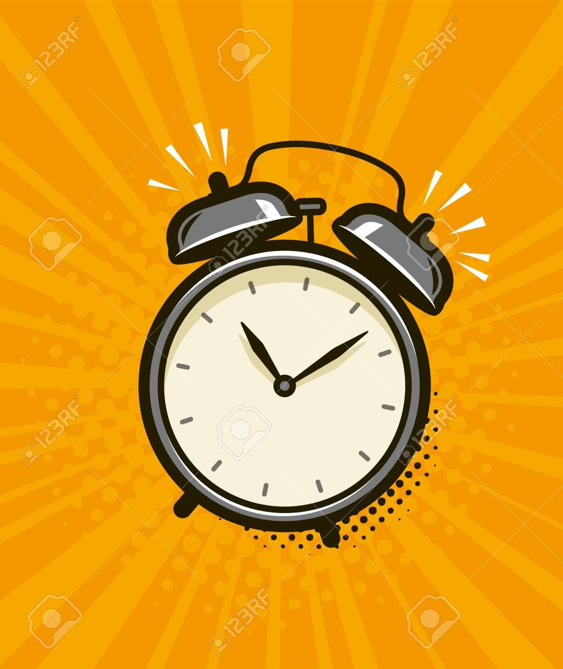 Ringing alarm clock. Retro comic pop art vector - 149672241
