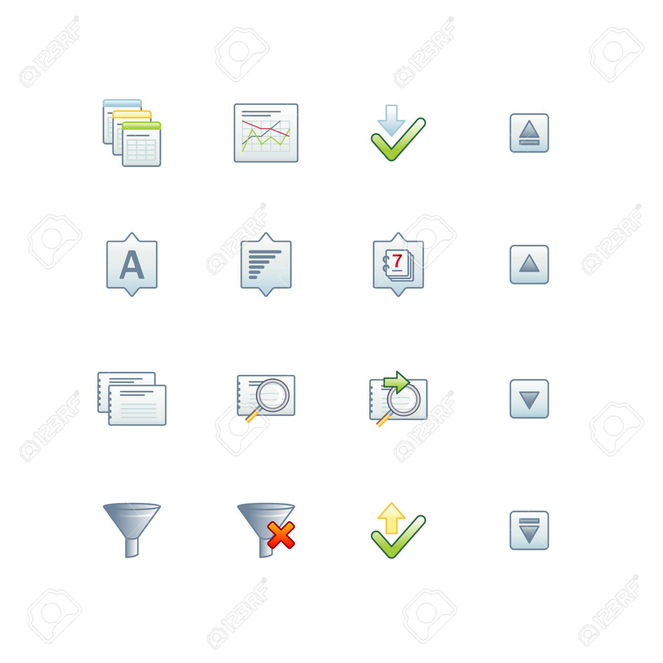 project database icons 2 Stock Vector - 3644611