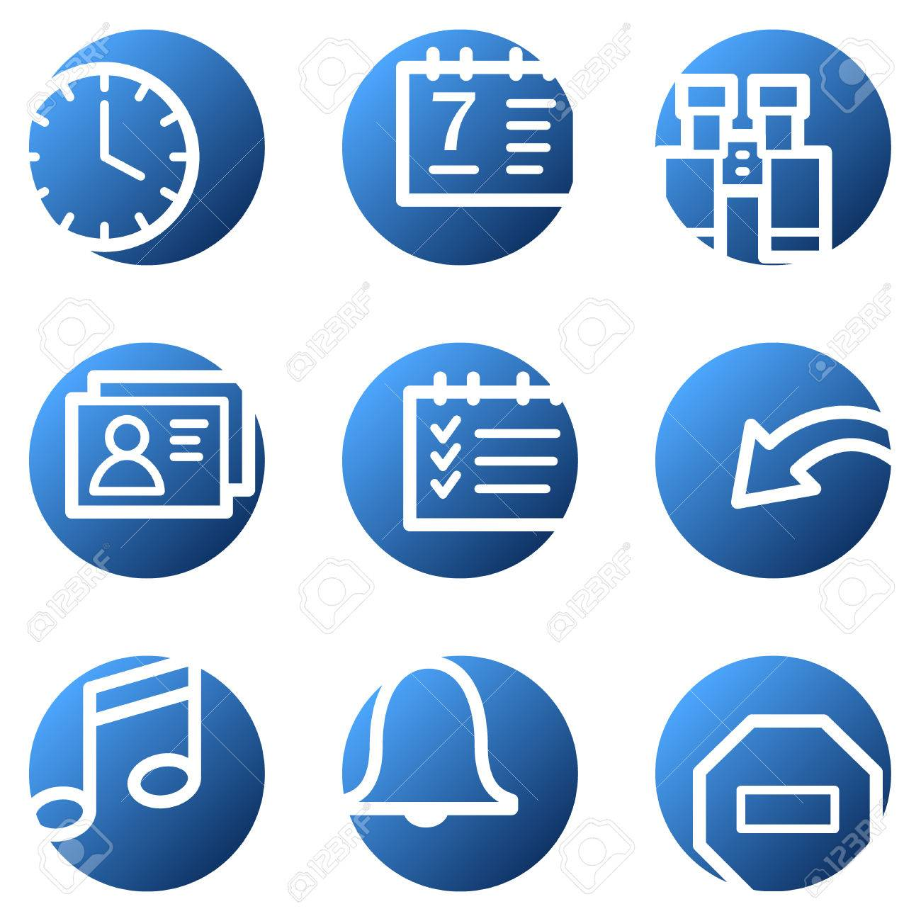 Organizer web icons, blue circle series Stock Vector - 4222297