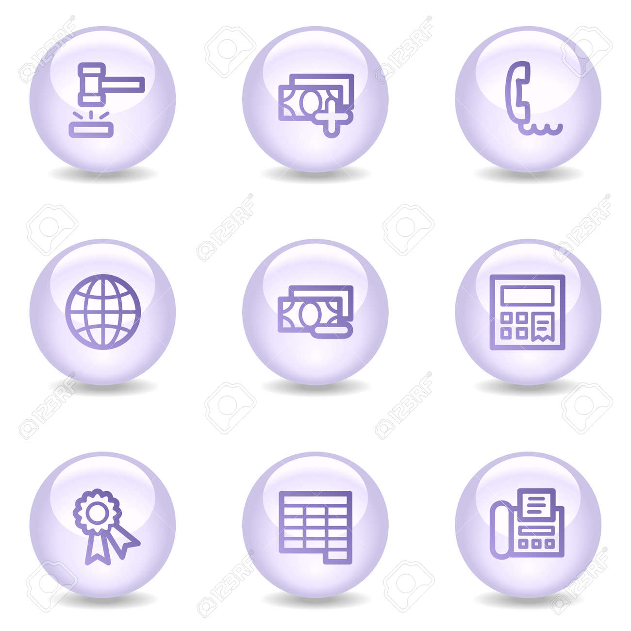 Finance web icons, glossy pearl series set 2 Stock Vector - 4488983