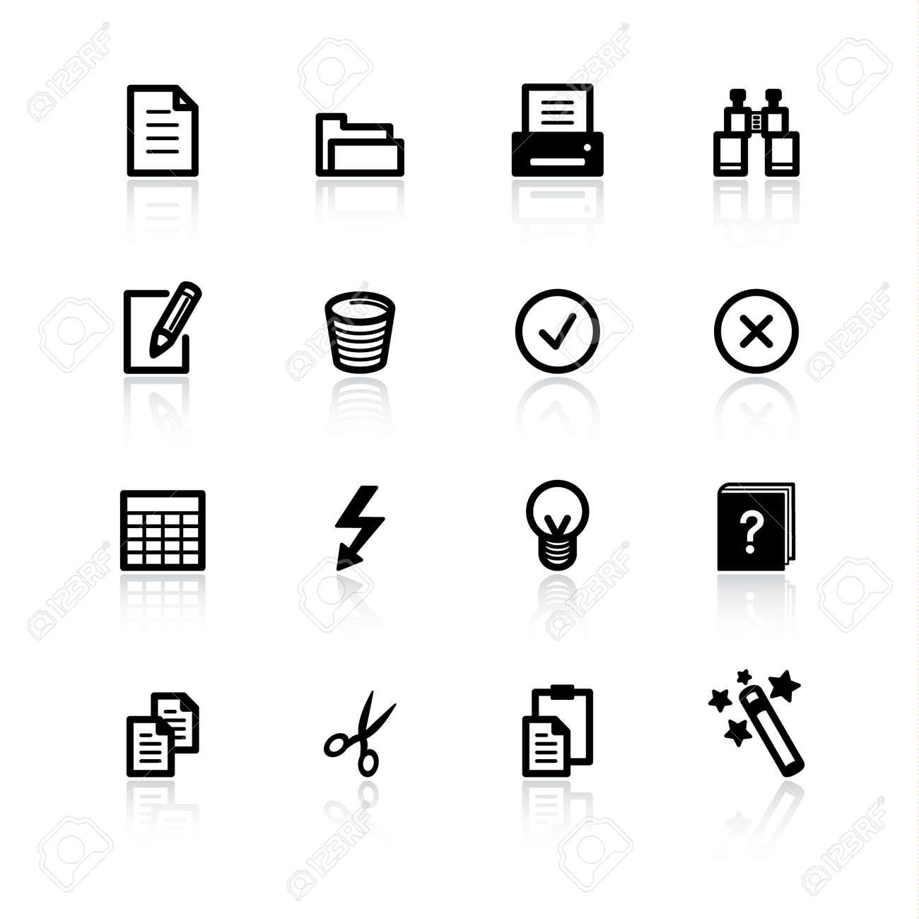 black document icons Stock Vector - 4492934
