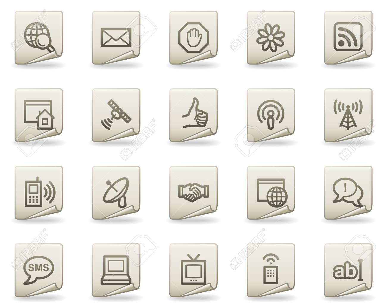 Internet web icons, document series Stock Vector - 4739819