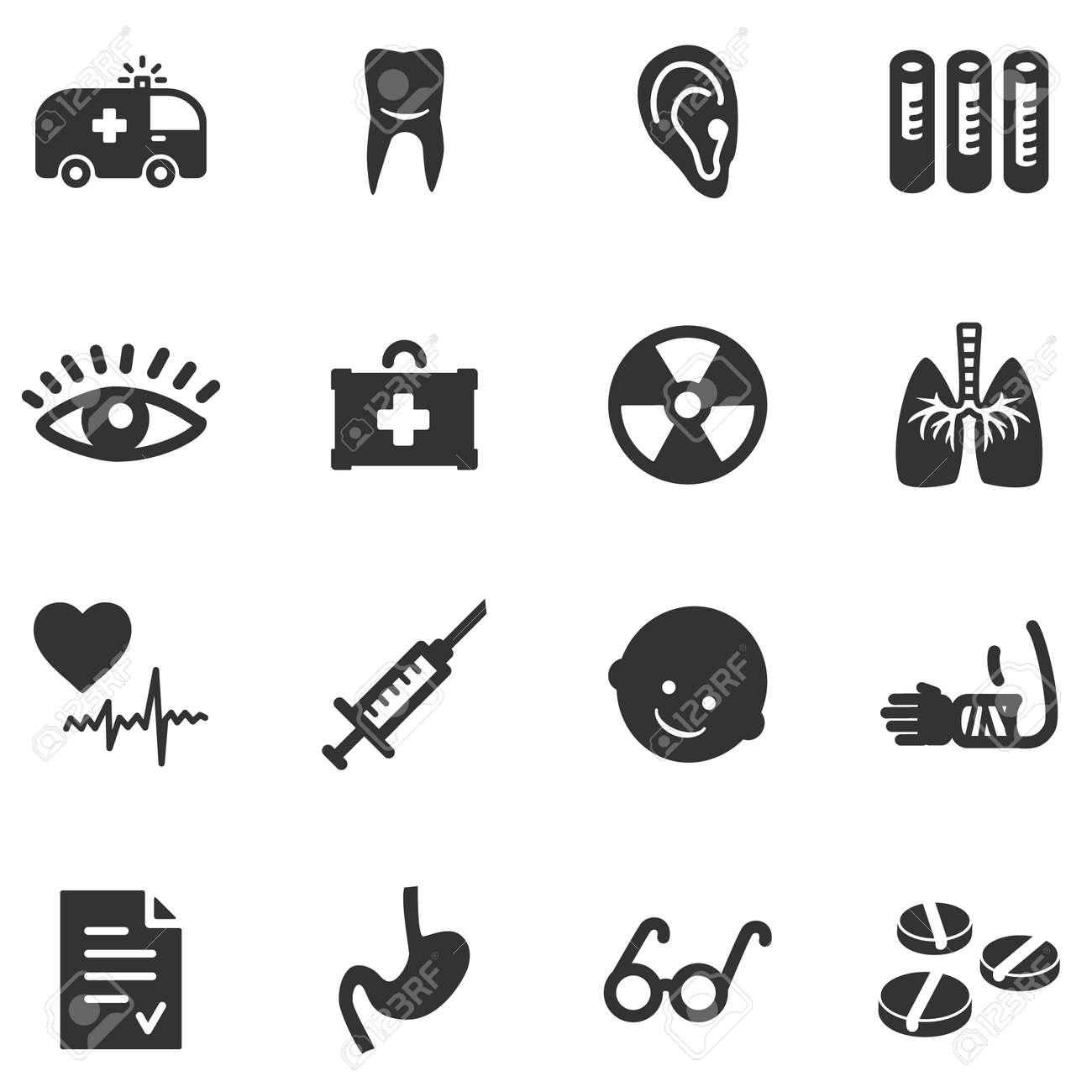 Medicine black web icons Stock Vector - 5295903