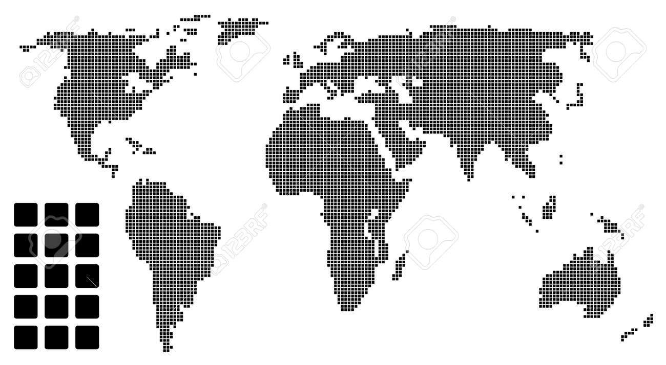 Dotted world map pixel dotted world map pixel stock vector 5657016 gumiabroncs Image collections