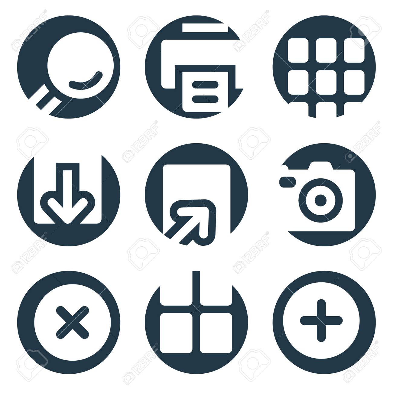Image viewer web icons, crop series Stock Vector - 8768113