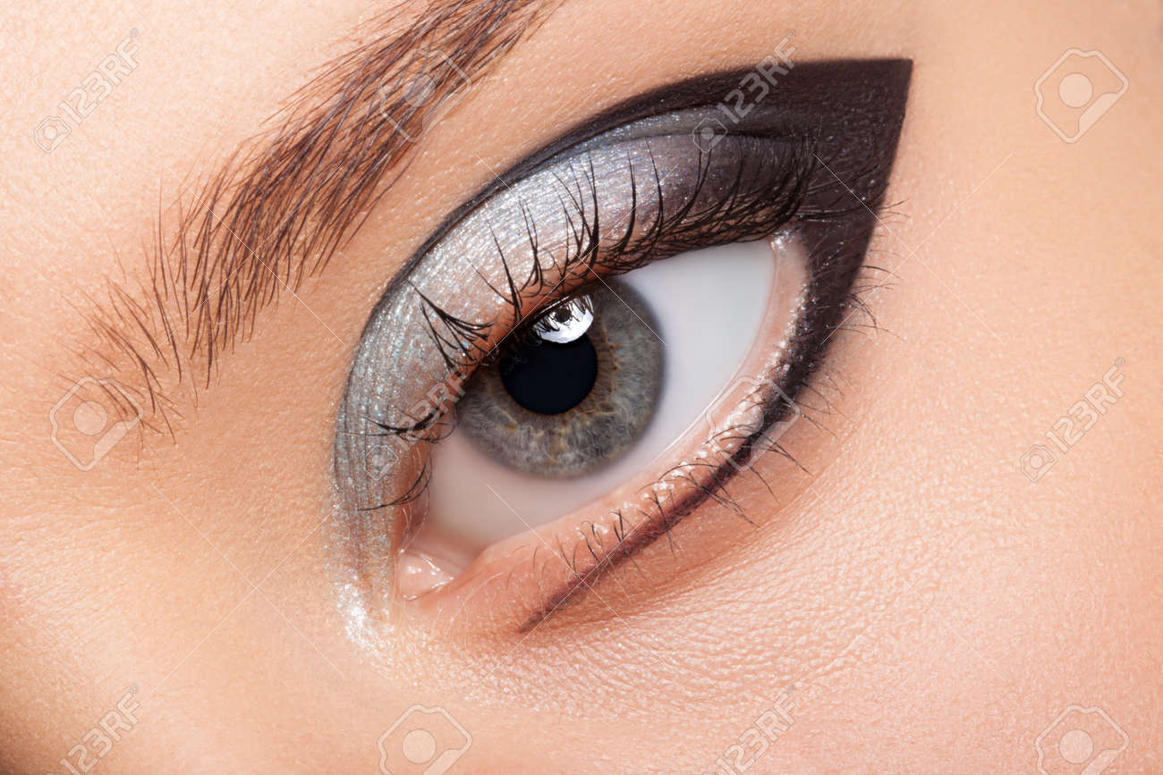 Eye Makeup Closeup Very Beautiful Eyes To Advertise Cosmetics