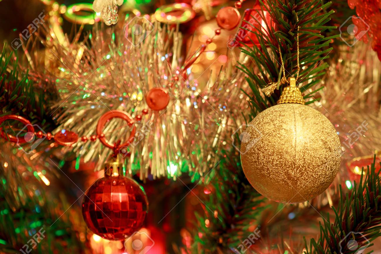 Christmas Tree With Beautiful Christmas Balls Traditional Holidays Stock Photo Picture And Royalty Free Image Image 91876773