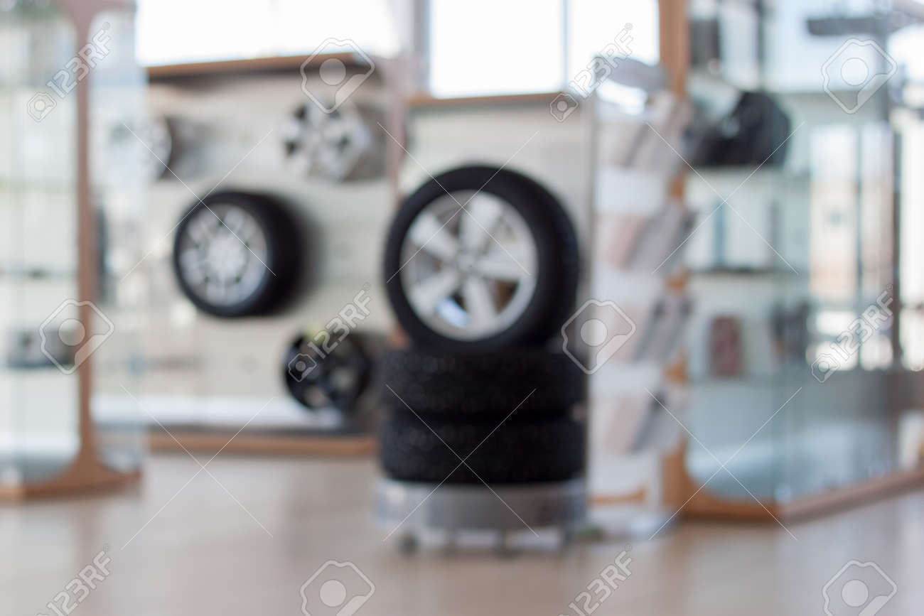Autoshop. Spare Parts And Accessories. Themed Blur Background ...