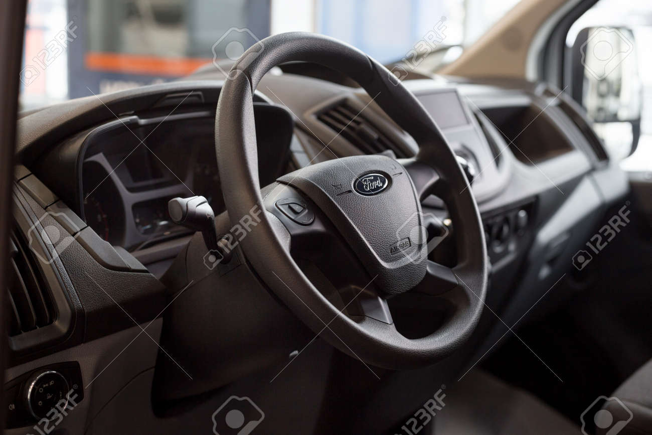 Ford Transit Interior >> Russia Izhevsk January 27 2019 Showroom Ford Interior Of