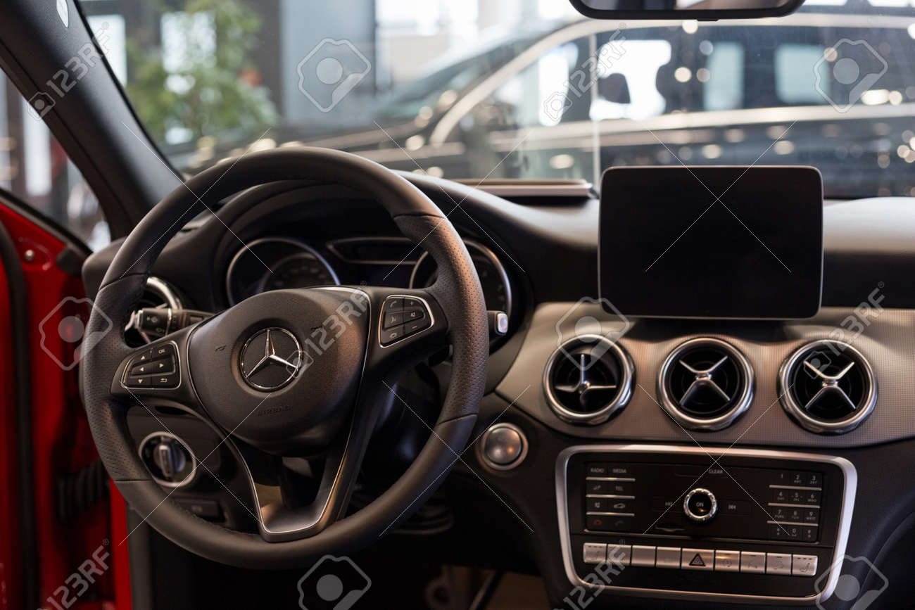 Russia Izhevsk February 20 2020 Mercedes Benz Showroom Stock Photo Picture And Royalty Free Image Image 144638868