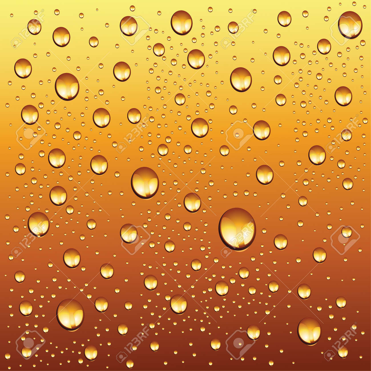 water drops on beer background Stock Vector - 4330268