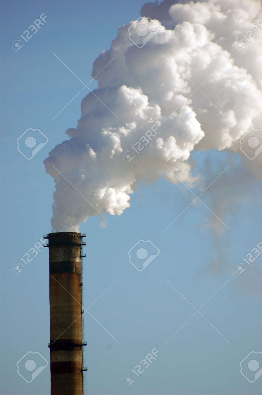 Air pollution.Power plant Stock Photo - 2546506