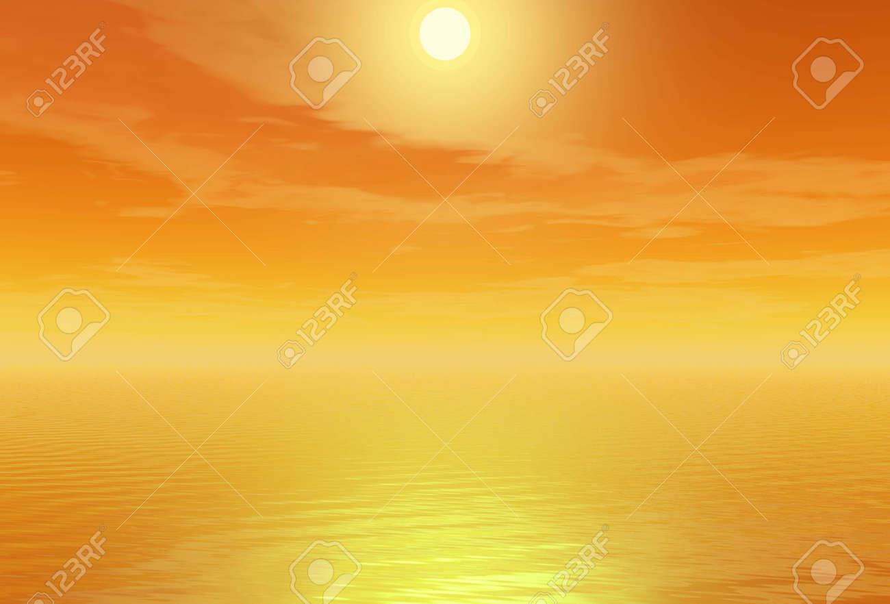 Sunset. Background Stock Photo - 2950473