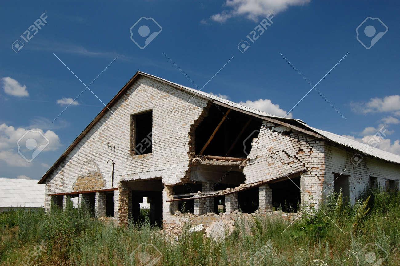 Abandoned farm. Near Chernobyl area.  Kiev region, Ukraine Stock Photo - 3274111