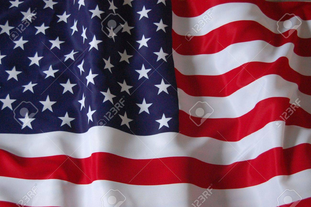American Flag as background for Clip-Art Stock Photo - 7515719