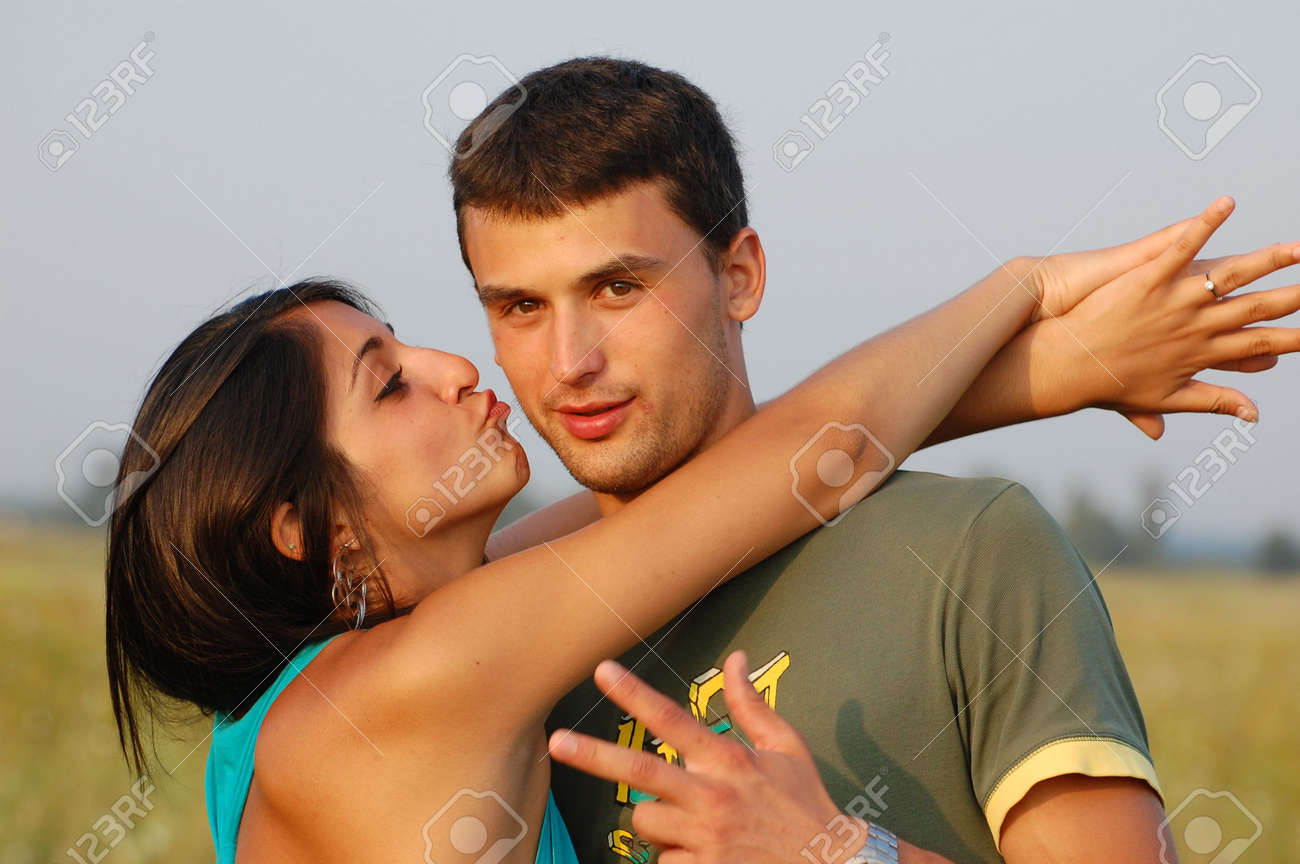 Portrait of young, happy couple Stock Photo - 7890582