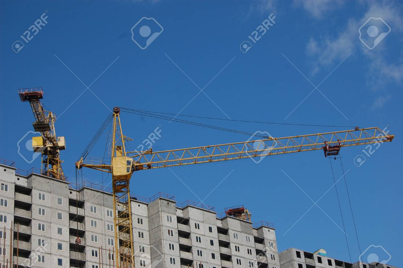 Building under construction . Ukraine Stock Photo - 10580213
