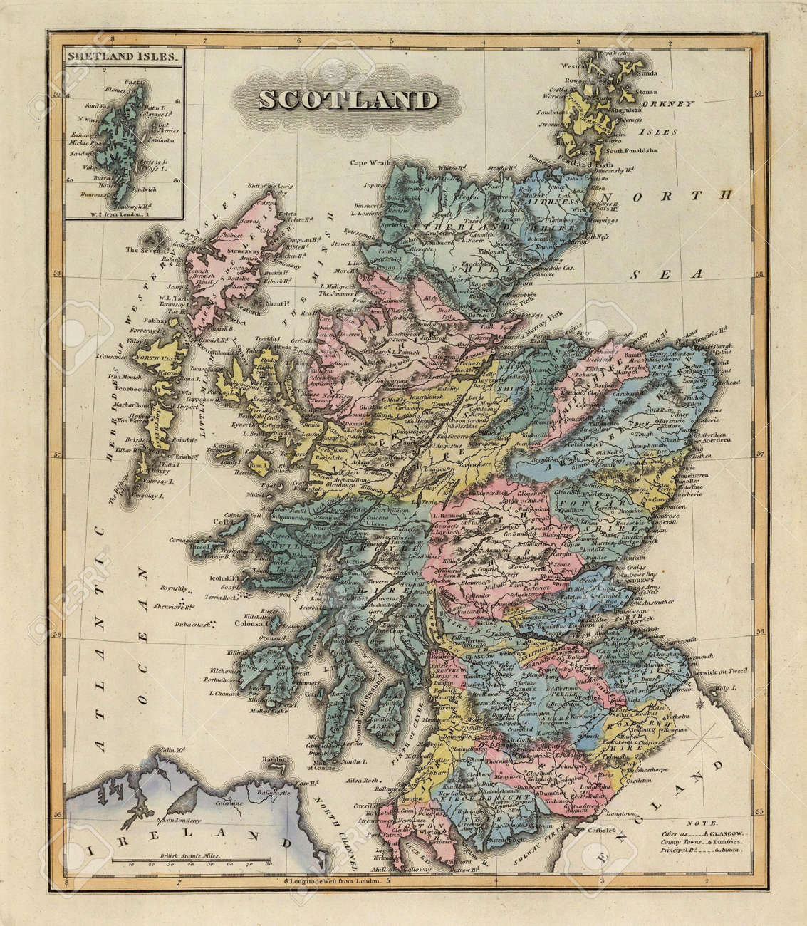 Scotland 1823 old map