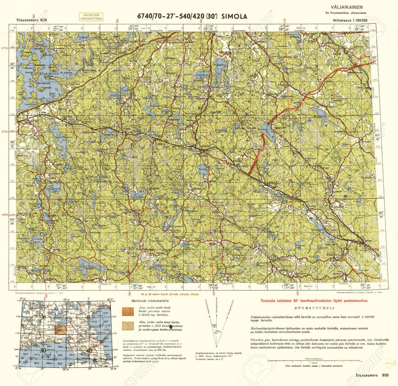 Finland Wwii Map Stock Photo Picture And Royalty Free Image