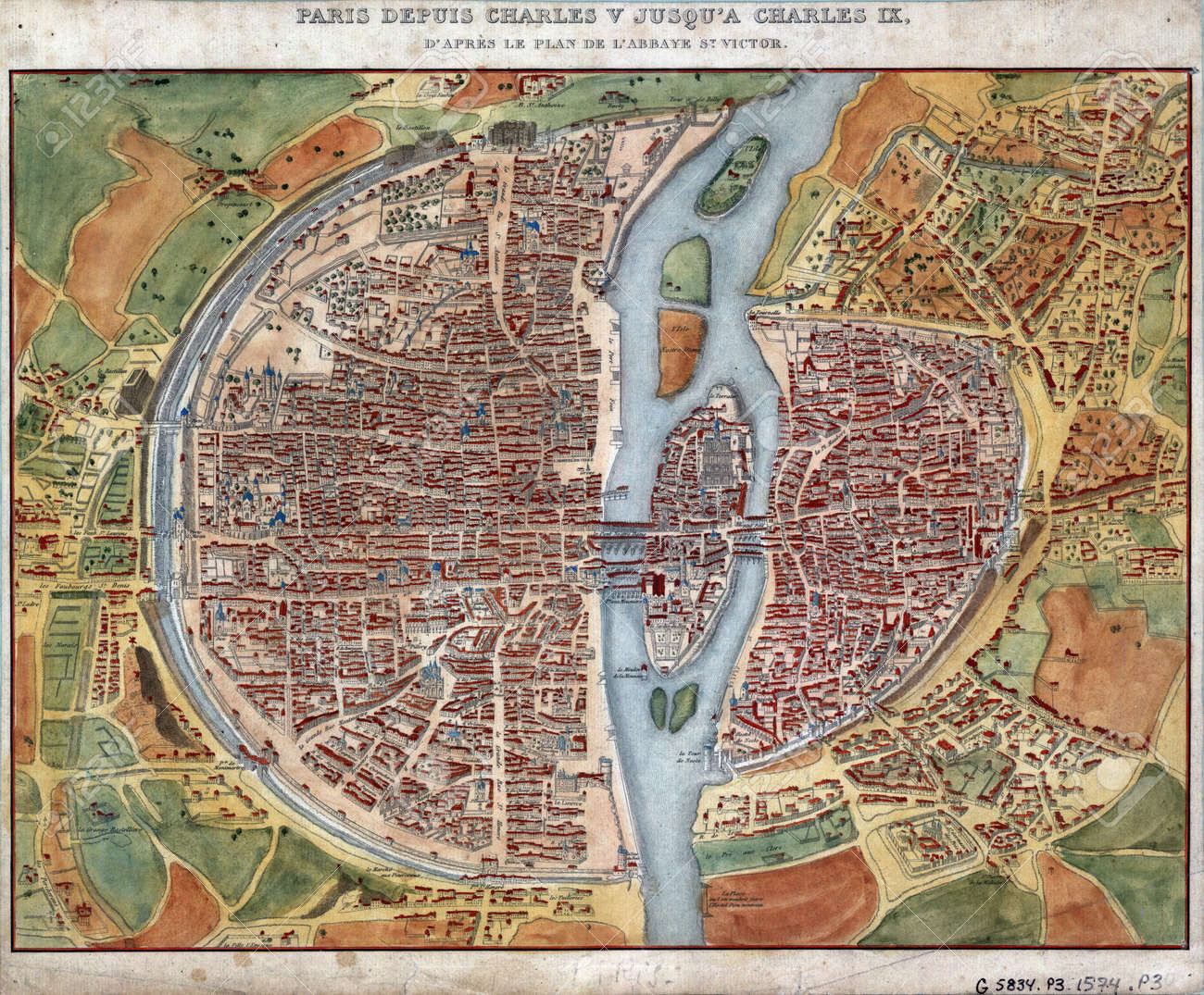 Old Paris Map Stock Photo Picture And Royalty Free Image Image