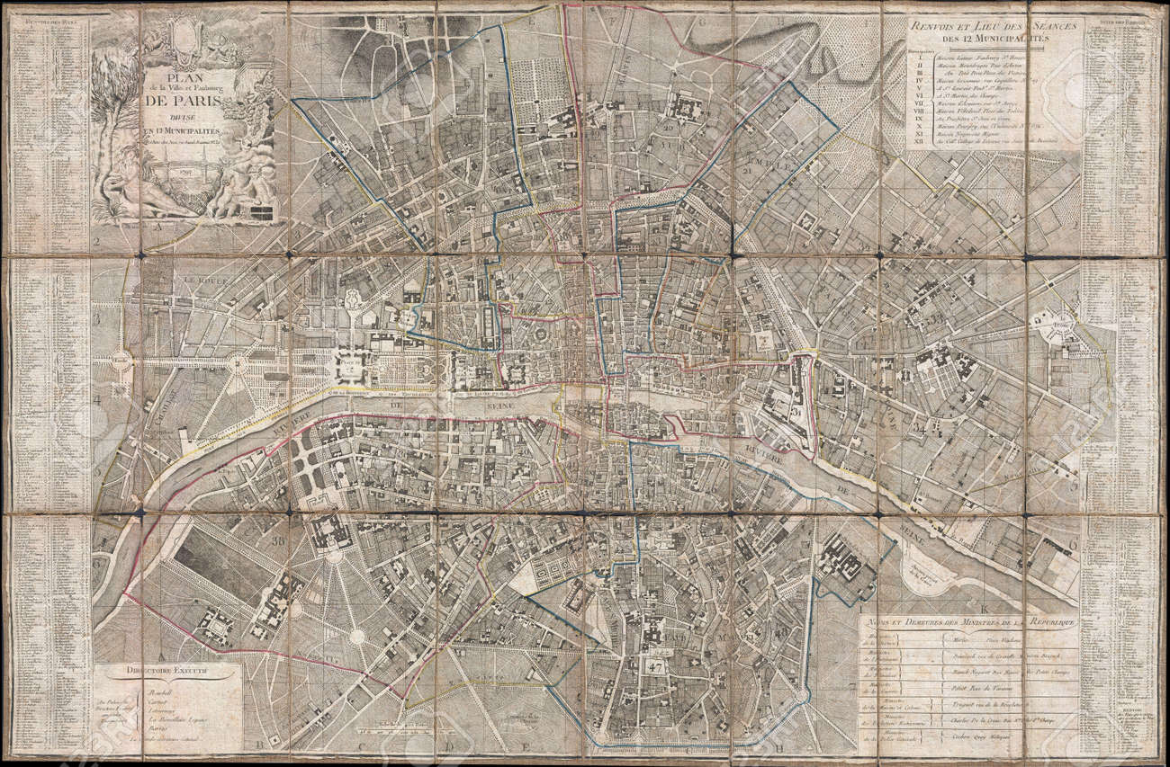 Paris Old Map Stock Photo Picture And Royalty Free Image Image