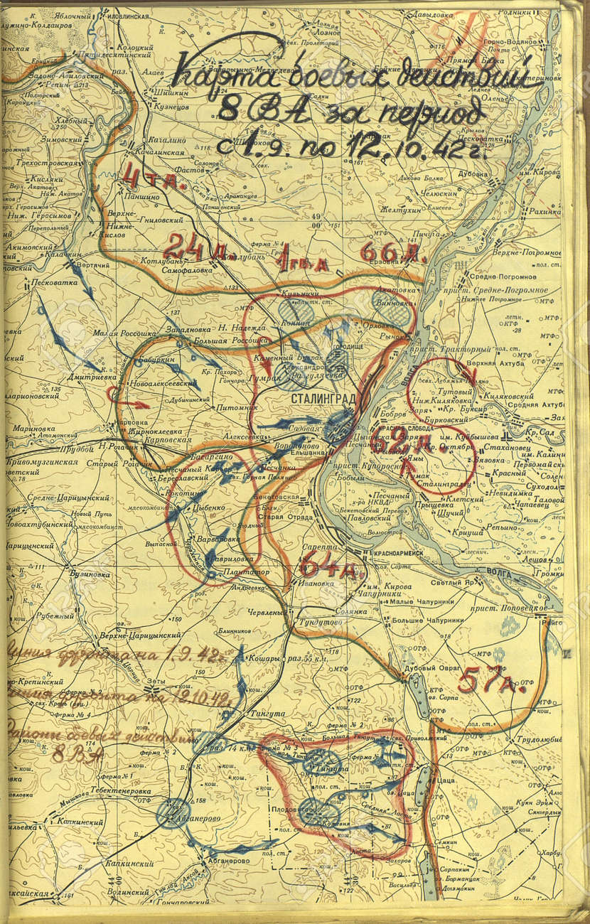 Stalingrad World Map 17657 | USBDATA