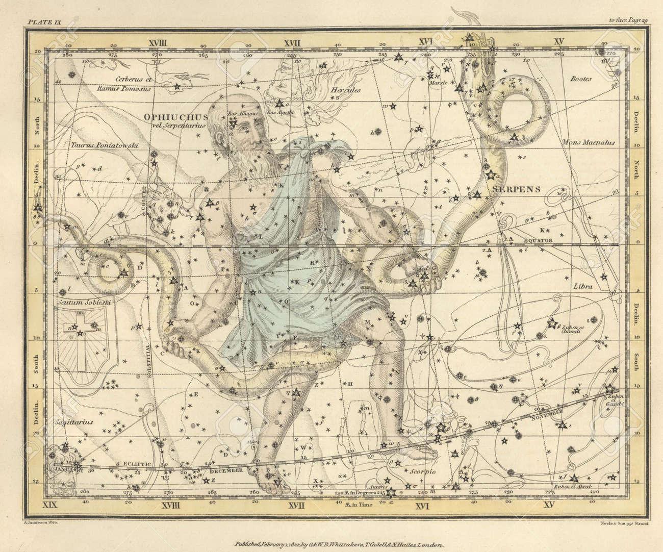 Astronomical chart, Vintage Stock Photo - 18114941