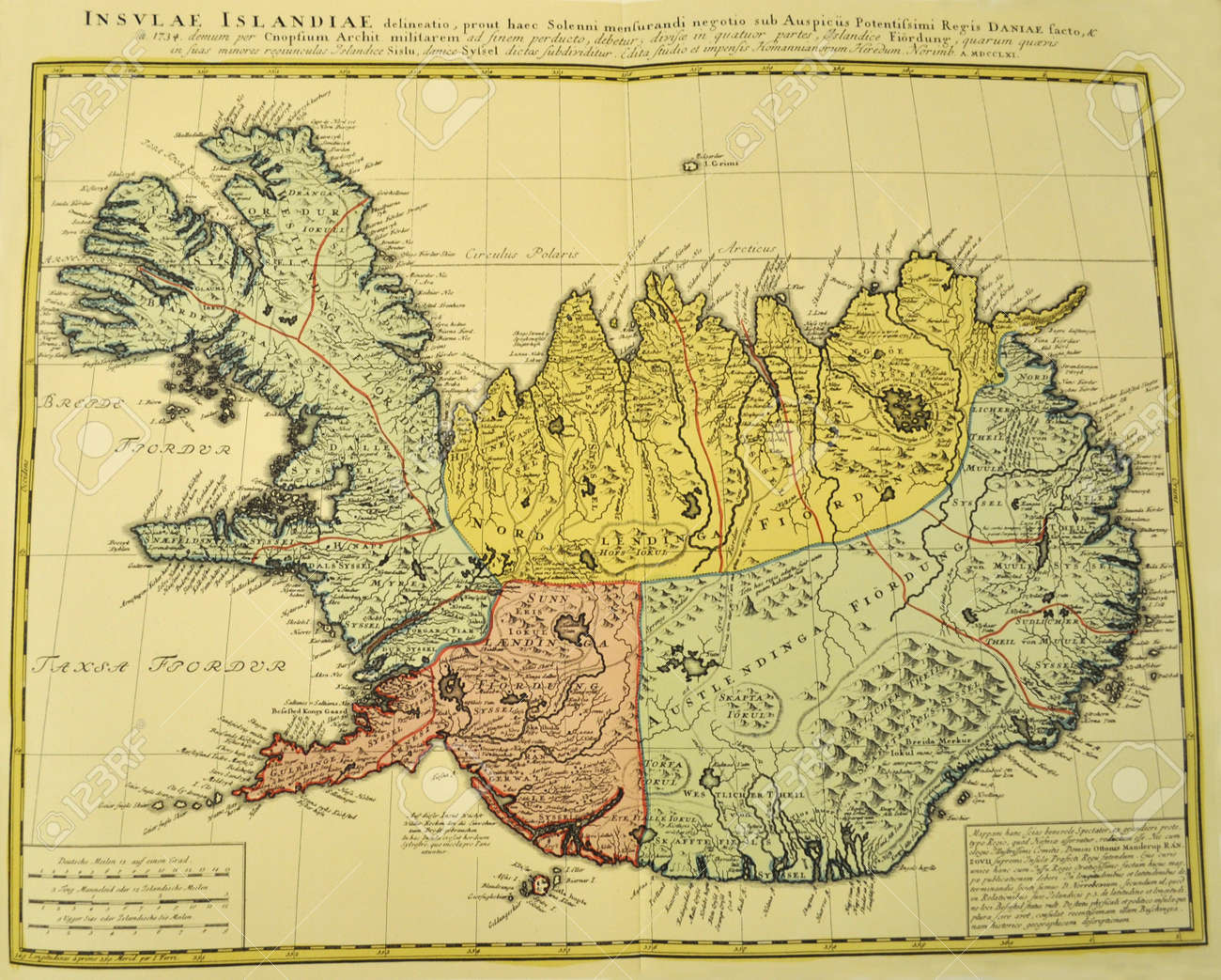 Old Map Of Iceland Iceland Old Map Stock Photo, Picture And Royalty Free Image. Image