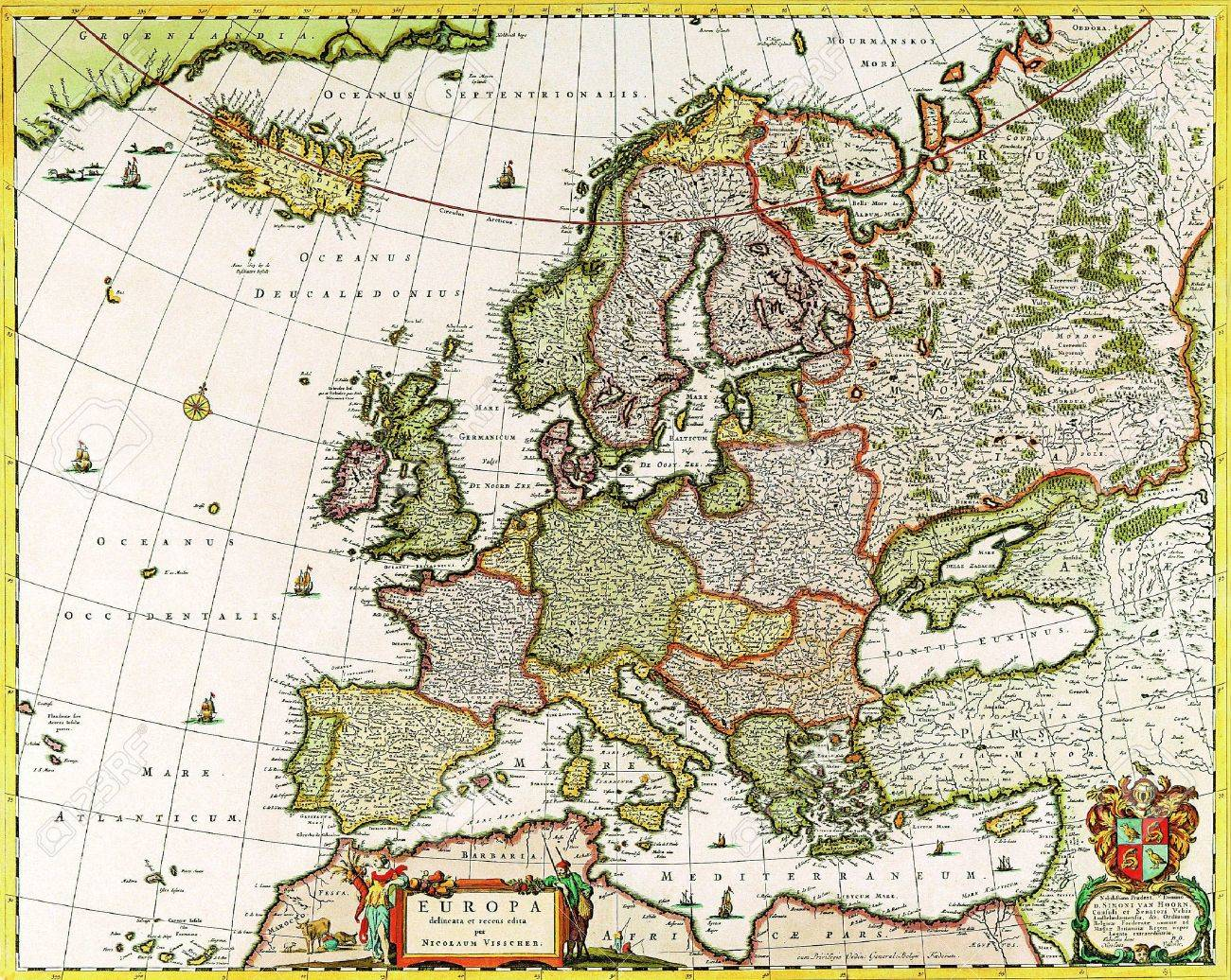 Europe old map 1640 Stock Photo - 18321379