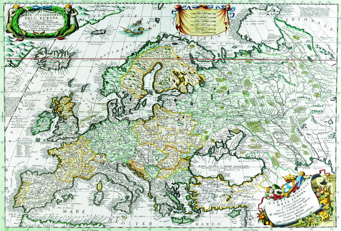 Europe old map 1690 Stock Photo - 18321392
