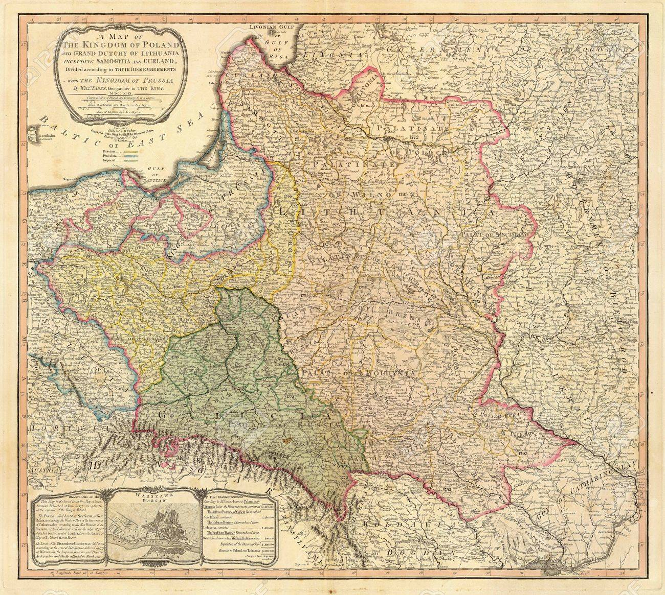 Poland Old Map Stock Photo Picture And Royalty Free Image Image
