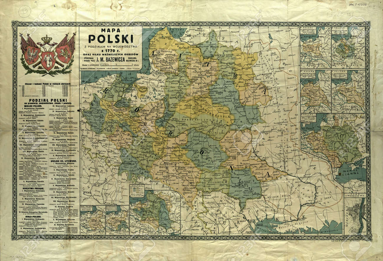 Poland Old Map 1770 Stock Photo Picture And Royalty Free Image