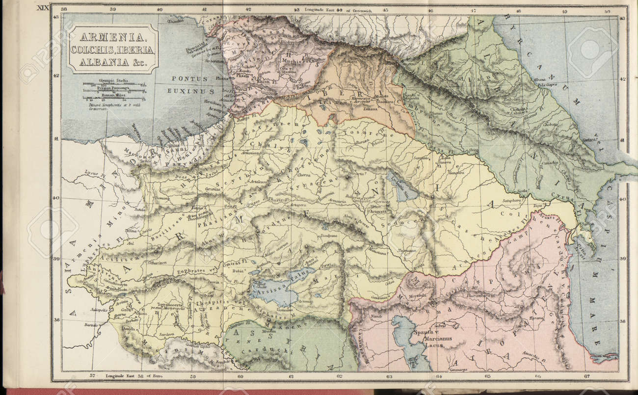 Map Of Asia Minor.Asia Minor Old Map