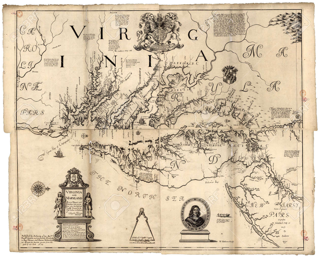Virginia Old Map Stock Photo Picture And Royalty Free Image Image
