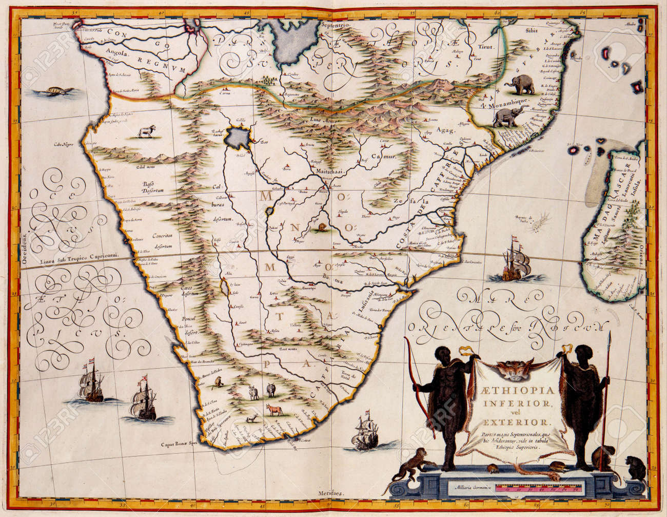South Africa Old Map South Africa Old Map Stock Photo, Picture And Royalty Free Image