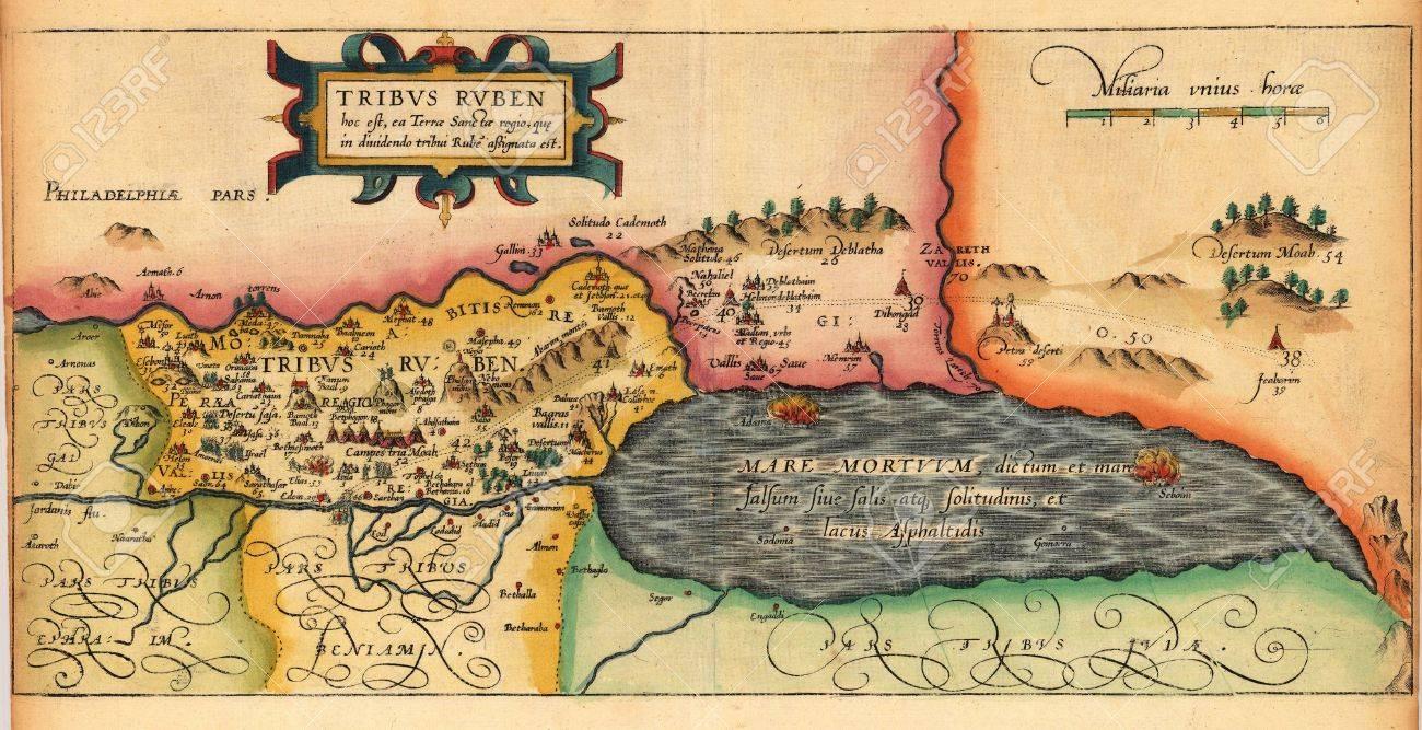 Holy Land old map Stock Photo - 18401970