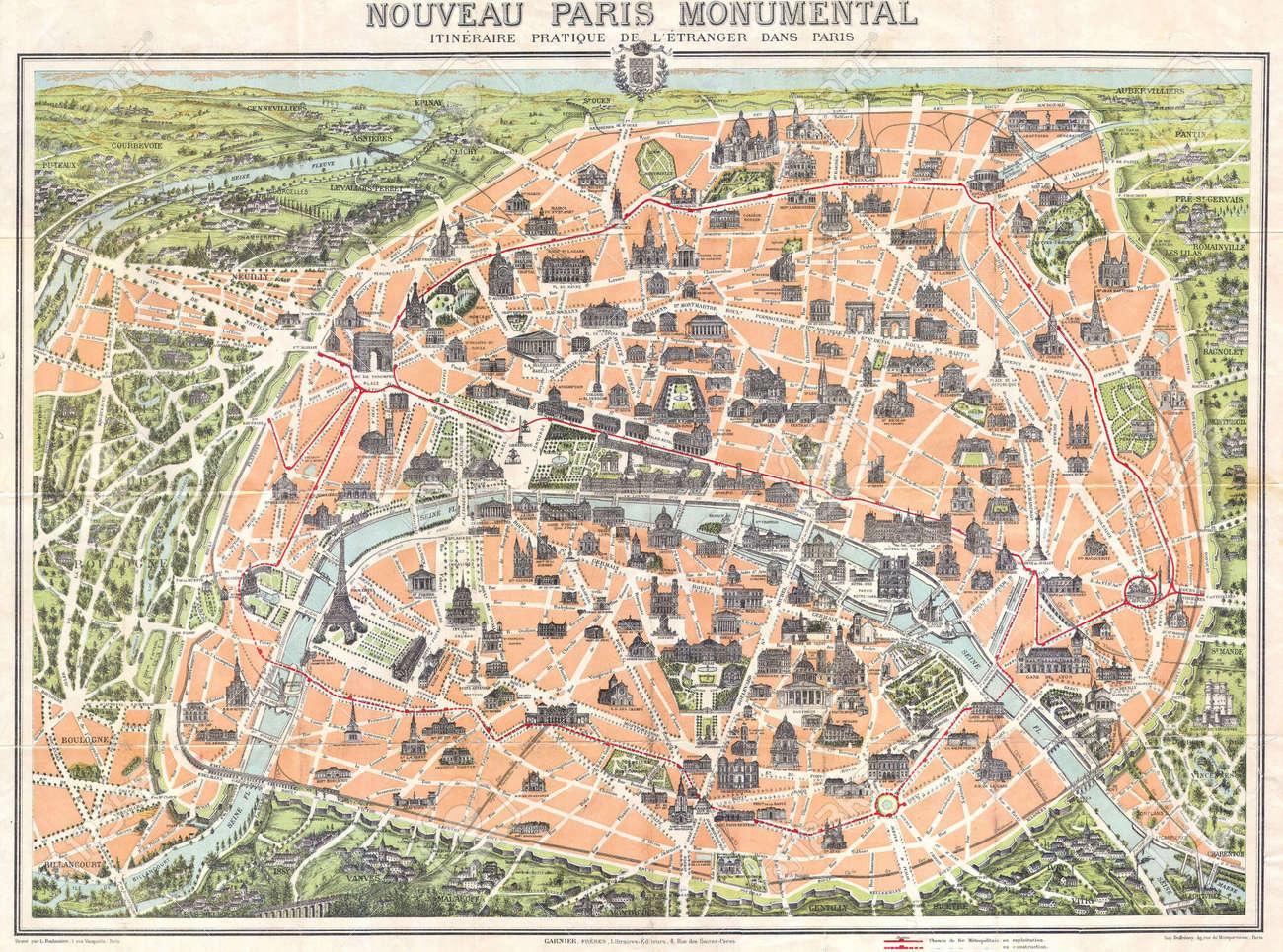 Paris vintage map Stock Photo - 18468778