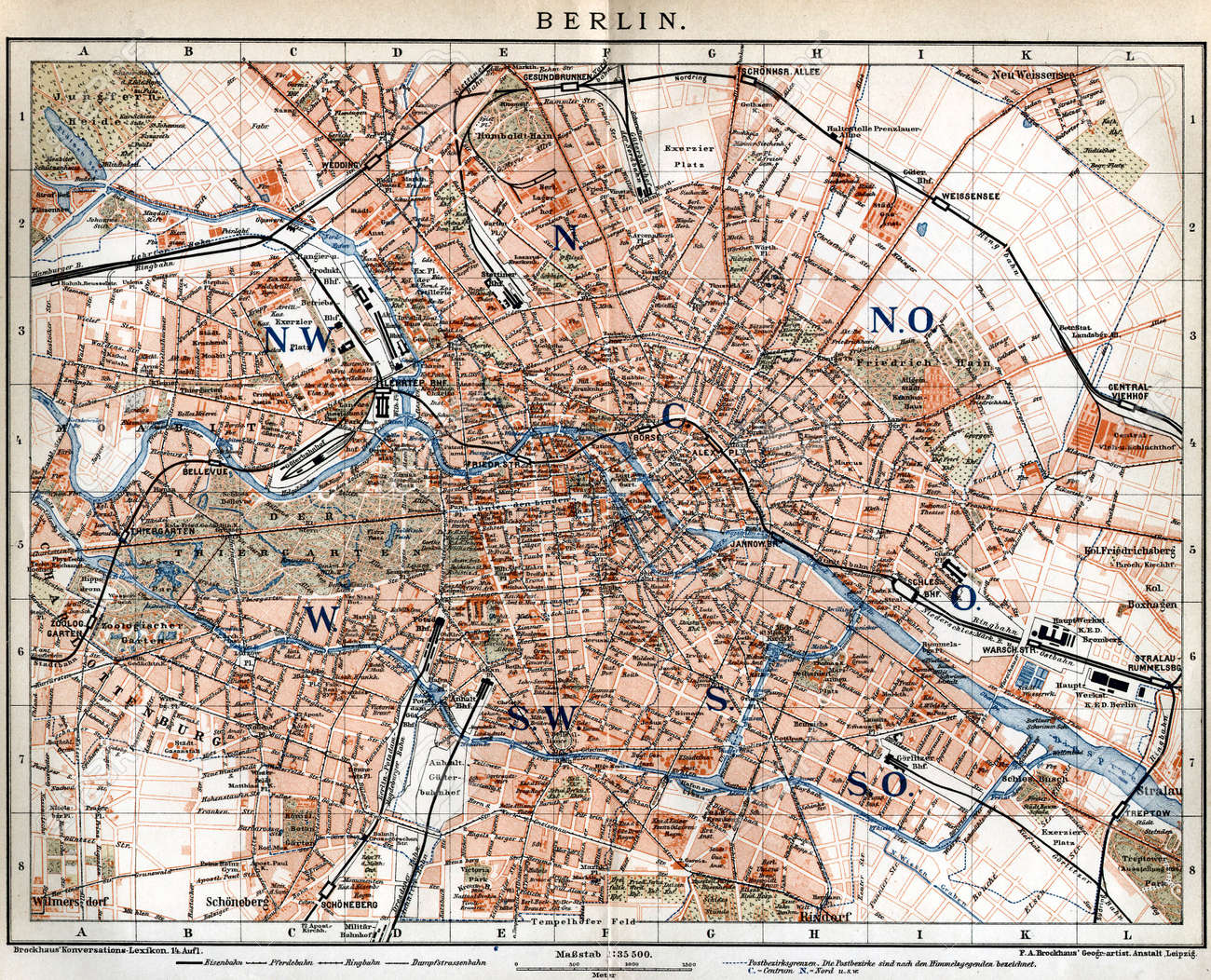 Berlin Vintage Map Stock Photo Picture And Royalty Free Image - Vintage map berlin