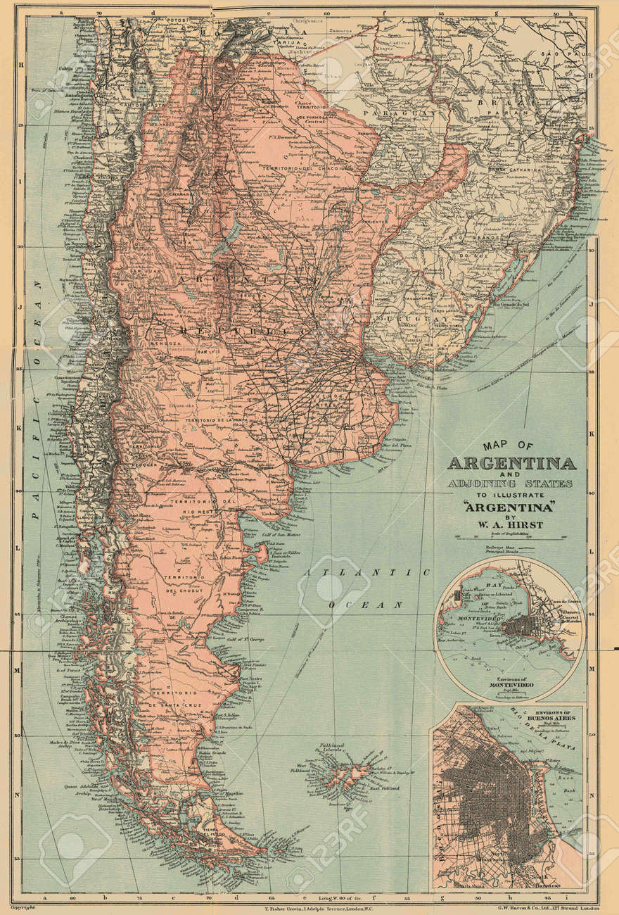 Argentina Vintage Map Stock Photo Picture And Royalty Free Image - Argentina map vintage