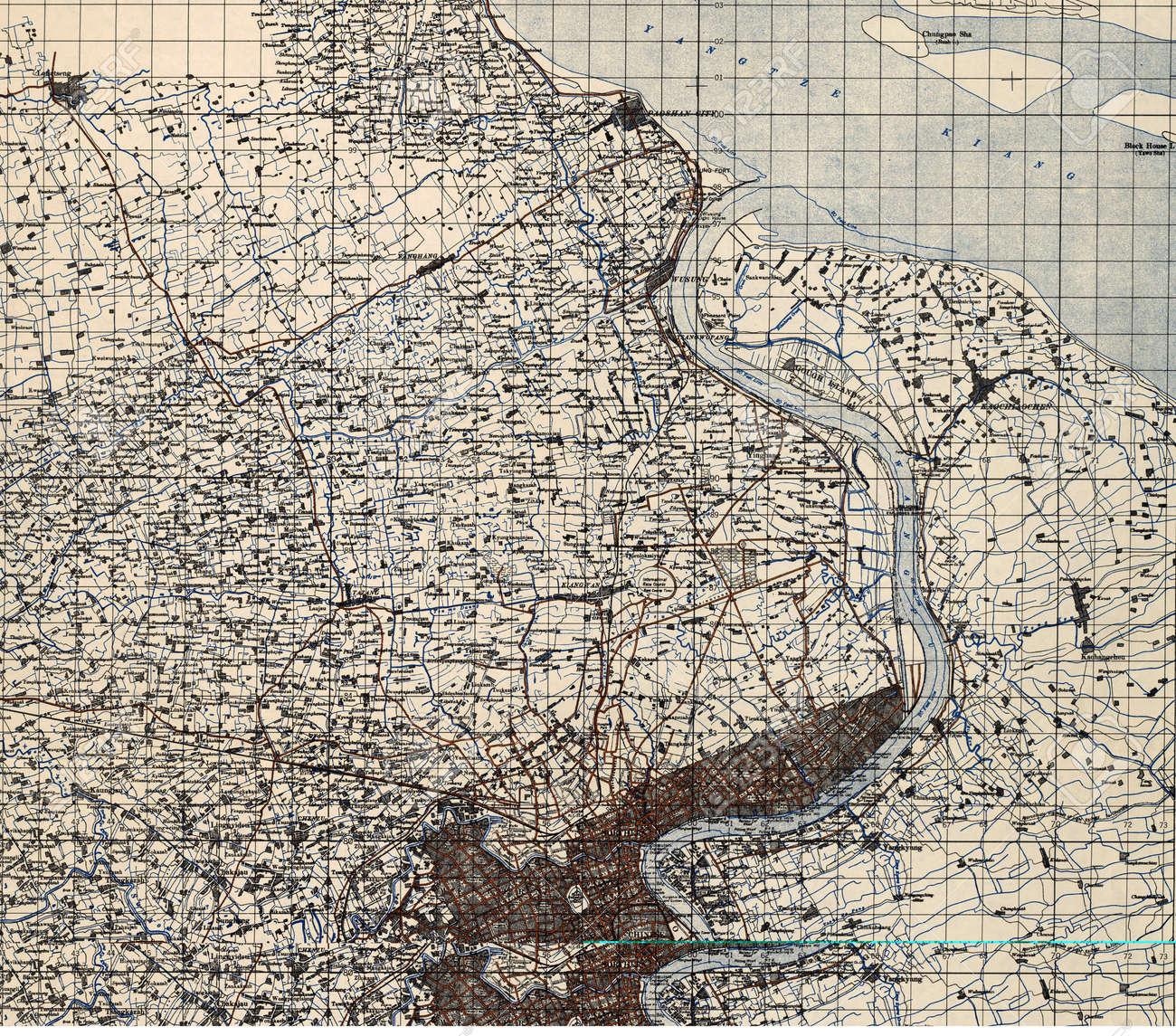 Shanghaichina world war ii military map stock photo picture and shanghaichina world war ii military map stock photo 18479429 gumiabroncs Images