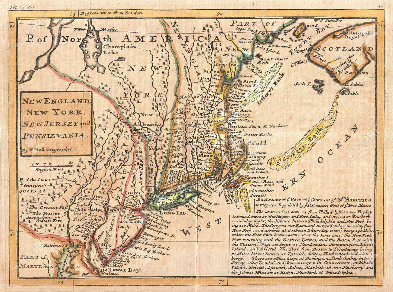Old Map Of New York.New York Old Map