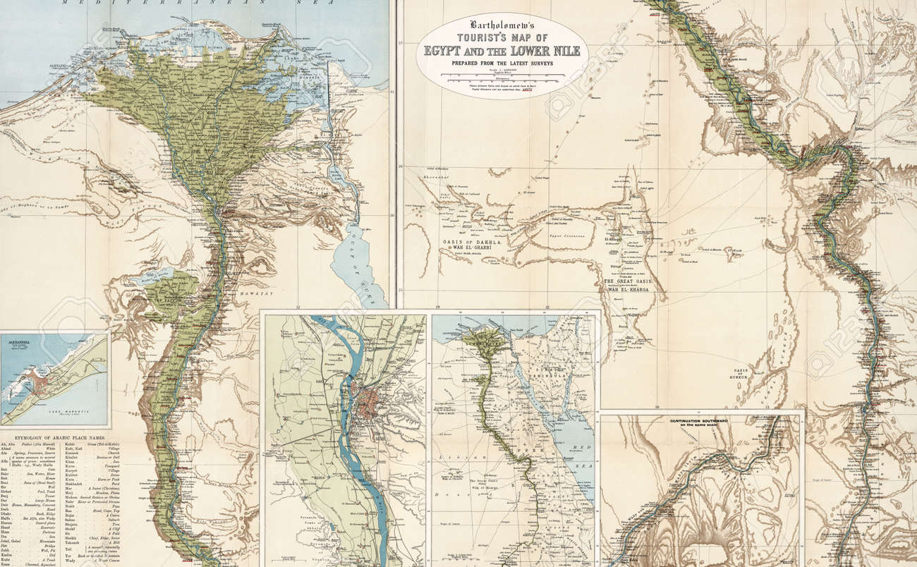 Egypt Vintage Map Stock Photo Picture And Royalty Free Image - Vintage map of egypt