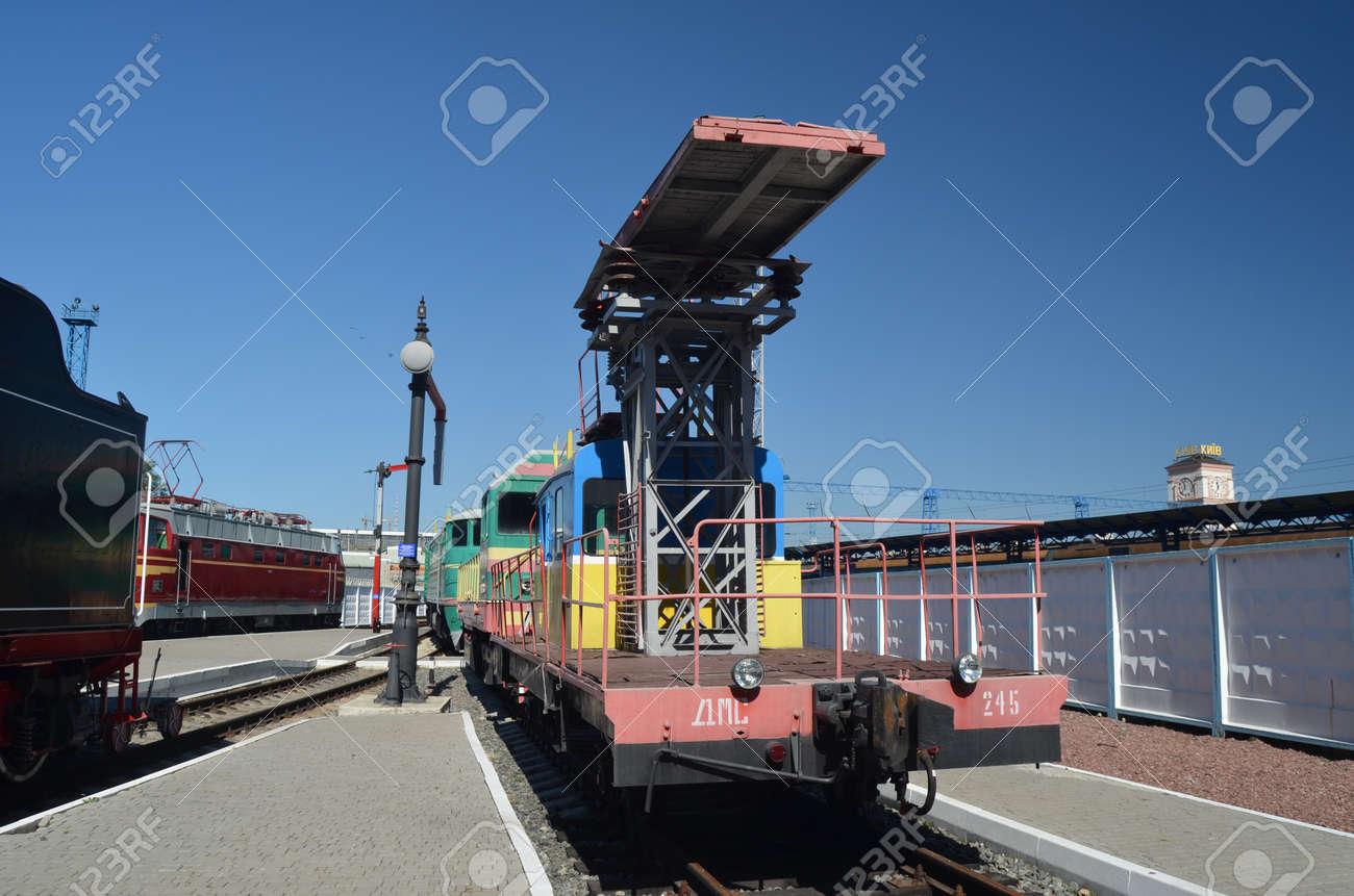 KIEV, UKRAINE - SEP 9 - The Museum of Railway exhibit at the Kiev railway terminal is shown on September 9, 2013 in Kiev,Ukraine  Stock Photo - 22190474