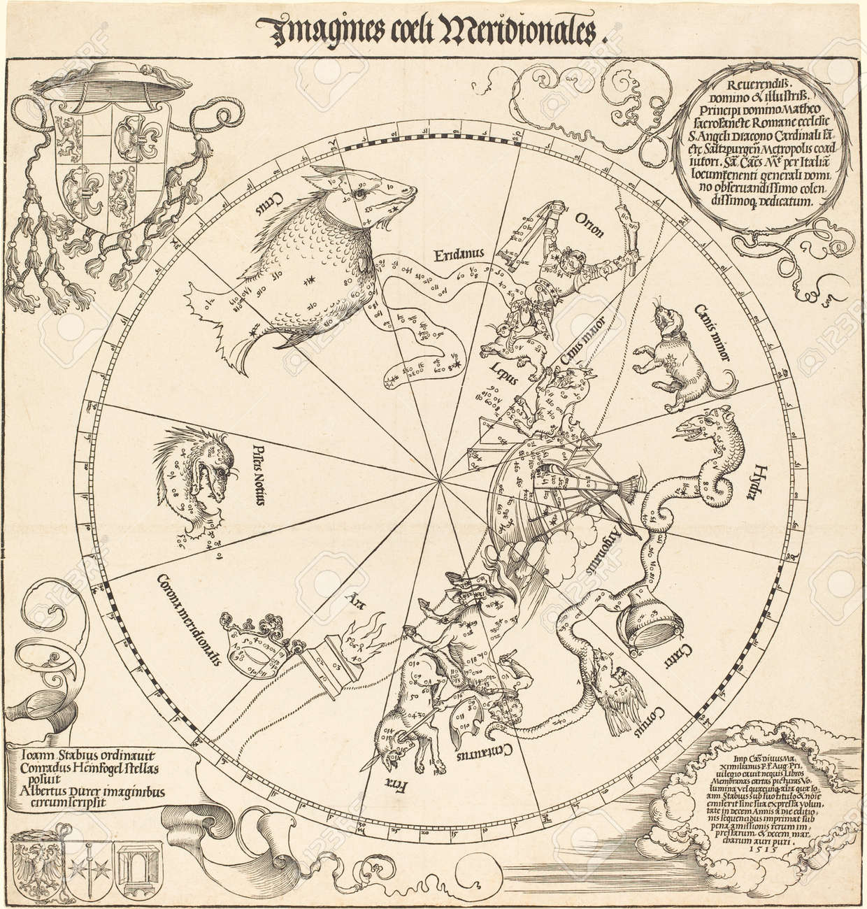 Astronomical chart,vintage Stock Photo - 22234094