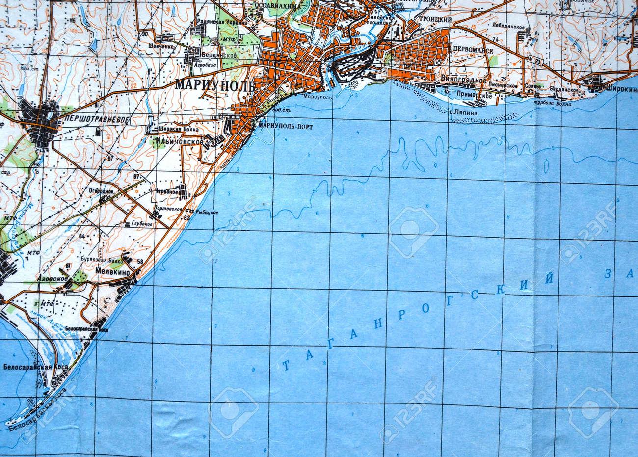 KievUkraineJAN 10Illustrative EditorialFragment Of Map Of