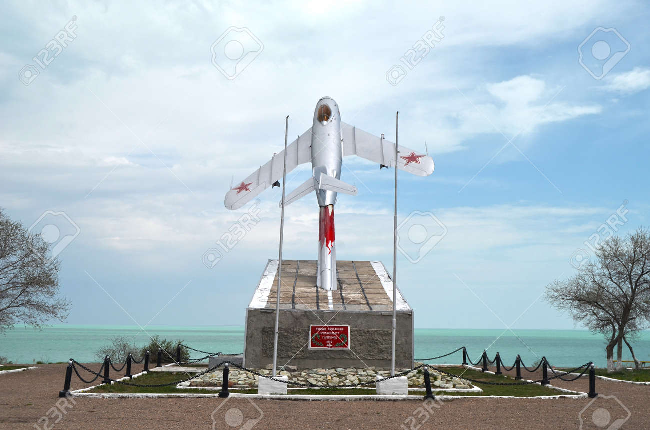 MIG-15 Monument to pilots of former Soviet anti-ballistic missile