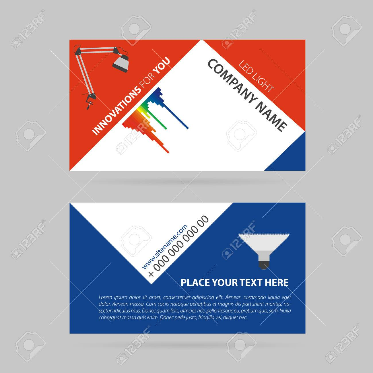 Vector Illustration Dessin Simple Carte De Visite