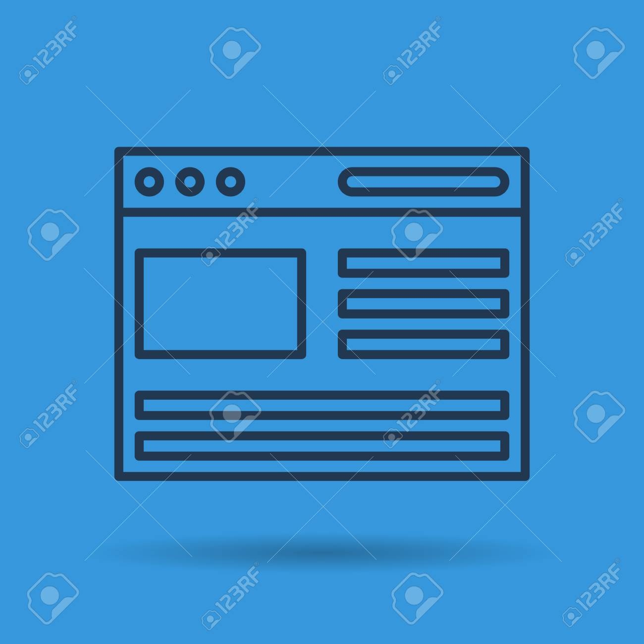 file cabinet icon windows. Isolated Thin Line Icon Of Open Internet Browser With Windows On Blue Background Stock Vector - File Cabinet C